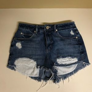 Garage Distressed Jean Shorts